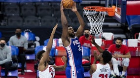 Embiid scores career-high 50 points to lead 76ers past Bulls
