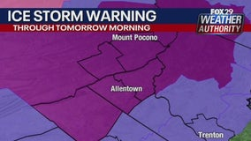 Weather Authority: Ice Storm Warning in effect for parts of region