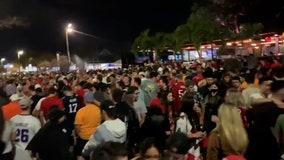 Maskless fans celebrate Super Bowl win despite Tampa's outdoor mask mandate