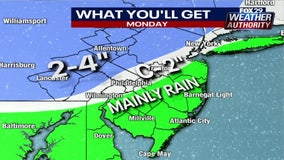 Weather Authority: Morning snow changes to rain on Monday