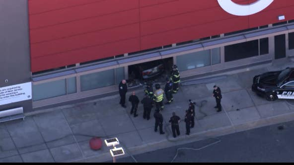 Driver slams into front of Target store in Cherry Hill, New Jersey