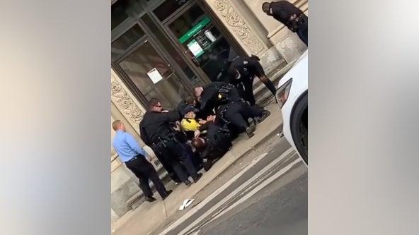 Video captures police interrupting bank robbery, arresting suspect