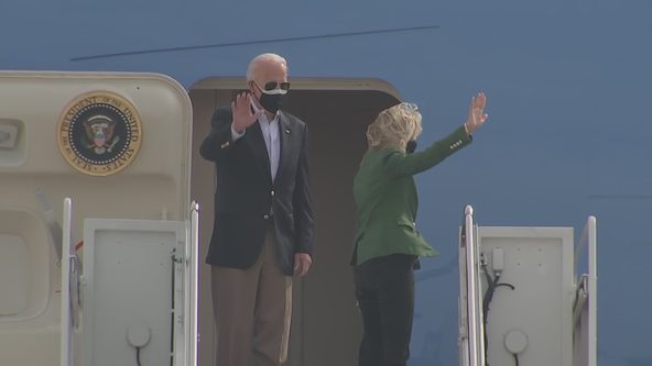 President Biden, first lady visit Houston following winter storm