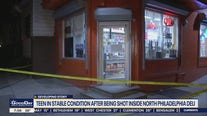 Teen in stable condition after being shot inside North Philadelphia deli