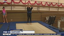 Jenn Fred tries her hand at gymnastics