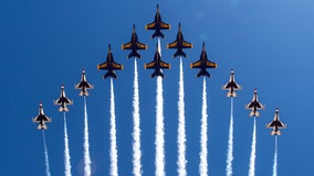 Thunderbirds, Blue Angels debut 12-plane, 18-engine 'Super Delta' joint formation