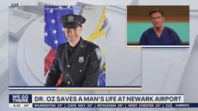 Dr. Oz saves a man's life at the Newark Airport