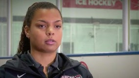 Woman breaks barriers as 1st African American ice hockey coach at Arcadia University