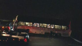 Bus carrying Coast Guard recruits crashes, minor injuries reported