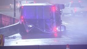 Overturned tractor-trailer on Ben Franklin Bridge delays traffic into Philadelphia