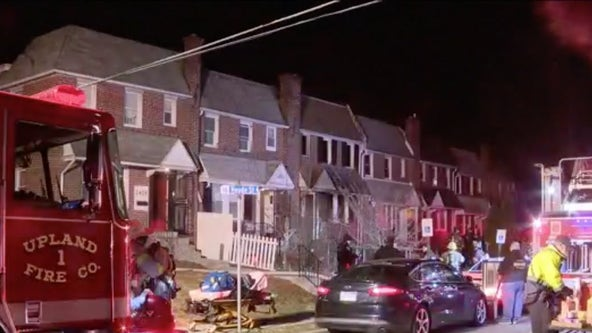 2-alarm fire breaks out at row home in Chester