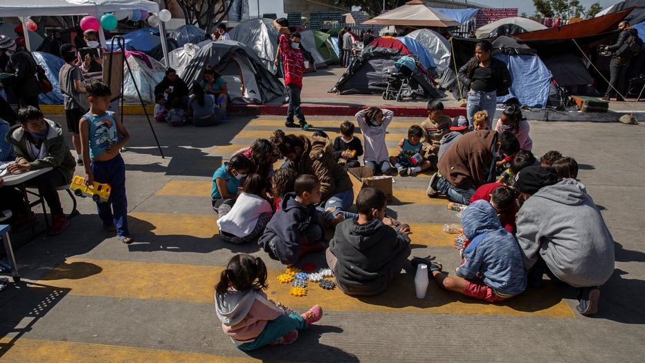Migration at the border between Mexico and the USA