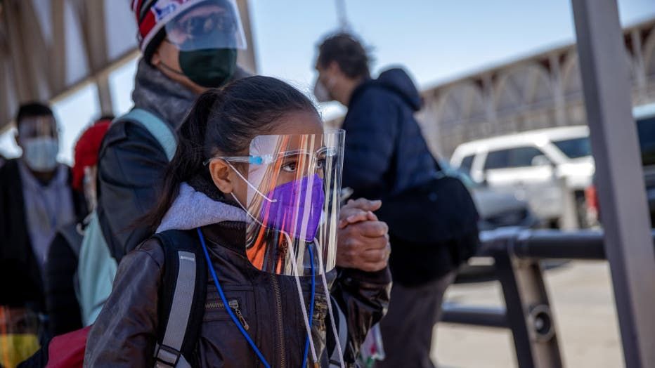 Migrants Cross From Mexico Into U.S. Near Ciudad Juarez