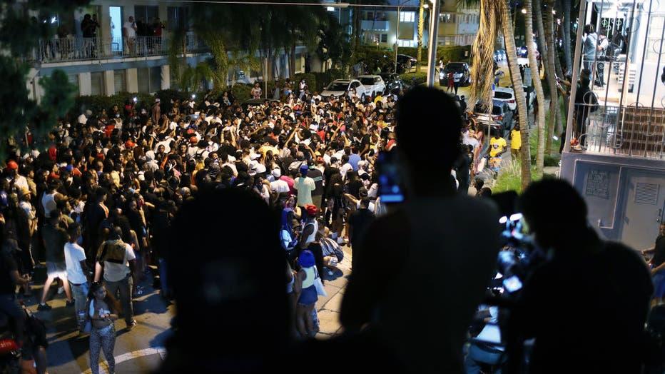 Miami Beach Declares Curfew As Spring Break Crowds Grow
