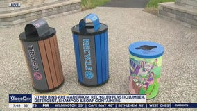 Jenn on the Charge: Kettle Creek Corporation creates trash and recycling bins from recycled materials