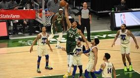 Antetokounmpo's big day helps Bucks trounce 76ers 132-94