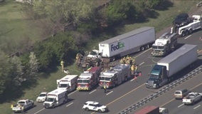 1 dead following multi-vehicle crash on I-295 in Gloucester County
