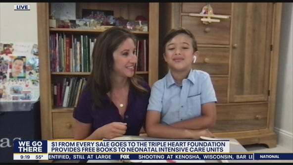 7-year-old creates wooden airplane business to raise money for Triple Heart Foundation