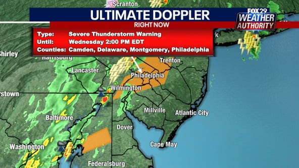 Weather Authority: Severe thunderstorm watches, warnings issued ahead of Wednesday storms