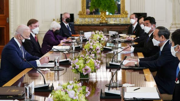 Japan's prime minister meets with Biden, urges strong alliance to counter China