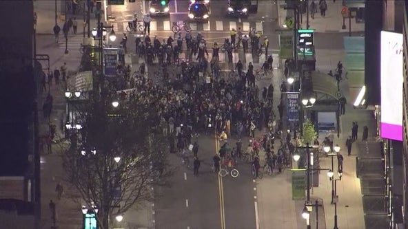 Protesters march in Philadelphia calling for justice following deadly police shooting of Daunte Wright