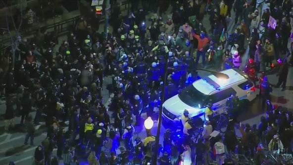 Adam Toledo Protest: 2 arrested in Logan Square as thousands gathered demanding justice for Adam Toledo