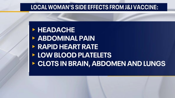 Pa. woman experienced rare blood clots after receiving Johnson & Johnson vaccine