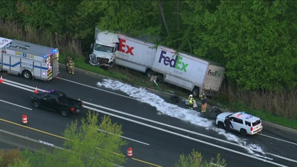Tractor-trailer crash on NJ Turnpike near Delaware Memorial Bridge slows traffic