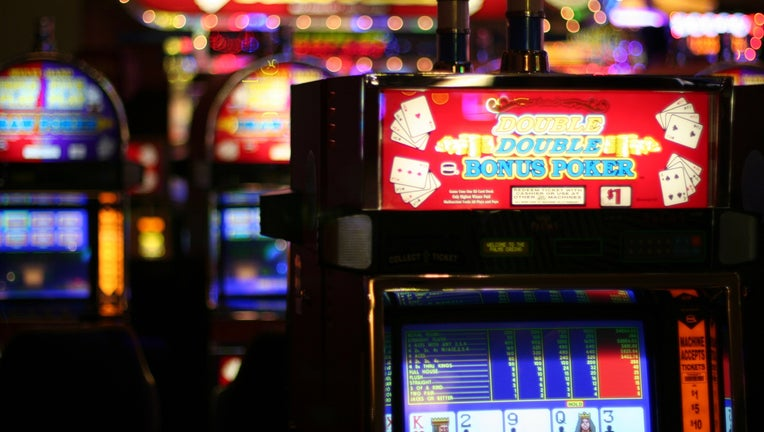 A slot machine at a casino.