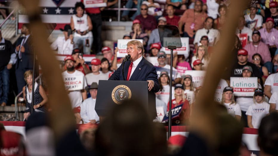 Donald Trump Holds Political Rally In New Mexico