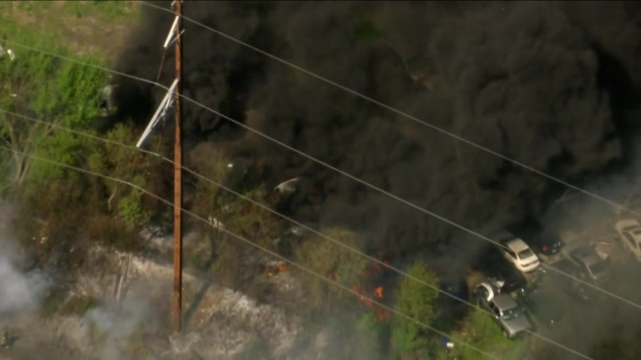 10th and Butler train track brush fires