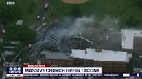 Crews battle 2-alarm fire at closed church in Tacony