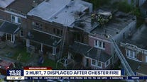 Officials: At least 2 hurt, several displaced after fire damages rowhomes in Chester