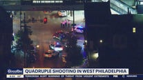 Quadruple shooting sends 4 to hospital in West Philadelphia