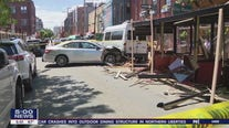Police investigate after car crashes into Northern Liberties dining structure, injuring 6