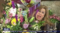 Sue Serio surprised with bouquet of flowers for Mother's Day