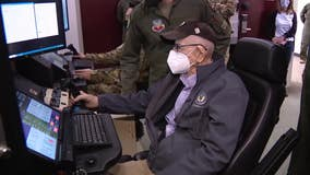 World War II B17 pilot, 100, takes back the skies on Air Force drone simulator