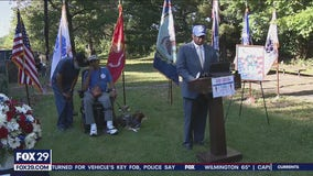 Small, but significant Memorial Day ceremony held for African American veterans who fought in the Civil War held in Camden