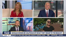 Should moms be cautious of what they wear to the beach?