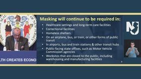 New Jersey lifting statewide indoor mask mandate Friday, May 28