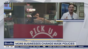 More businesses change their mask policies; kids planning to return to school in the fall
