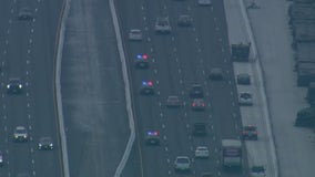 Suspect leads CHP on pursuit on 405 Freeway across Los Angeles, Orange counties