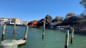 Man seriously hurt after fire ignites on docked boat in Wildwood, officials say