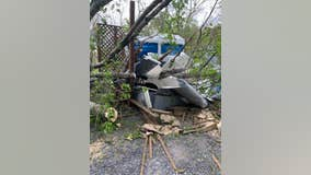 Fallen tree traps Gettysburg visitor inside portable toilet