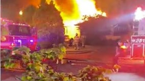 5 hospitalized as fire crews battle heavy fire at group home in Burlington County