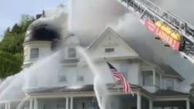 Historic cottage catches fire on Mackinac Island, Michigan