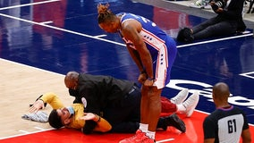 Fans Gone Wild: Spectator tries to get on floor at Sixers-Wizards game