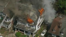 Multi-alarm fire destroys duplex in Trenton