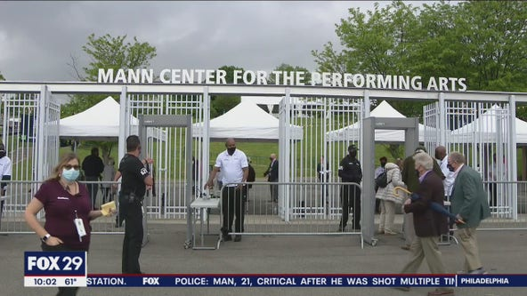 Live music returns as The Mann Center reopens to thrilled patrons