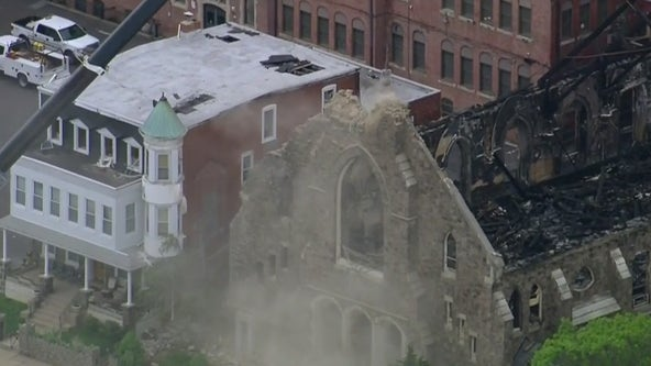 2-alarm fire destroys defunct St. Leo's Church in Tacony
